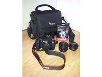Canon EOS 80D 24.2MP Digital SLR Camera (with EF50mm 1.8 STM, EF-S 24mm STM, speed memory card, bag)