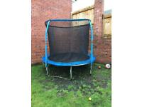 Trampoline complete with enclosure