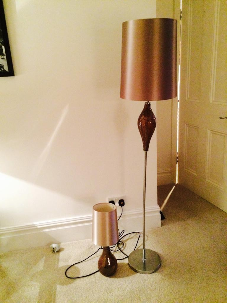 Next Floor Lamp And Matching Table Lamp