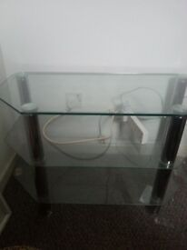 """Glass tv stand for upto 40"""" Tv"""