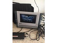 Portable DVD Player with Spare Battery and both Car charge and mains plug charge