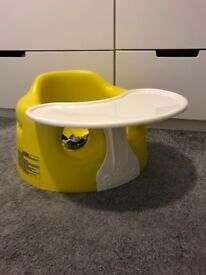 Yellow Baby Bumbo Seat with table