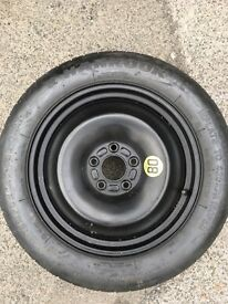 Spare wheel space saver wheel hankook tyre T125 85R 16