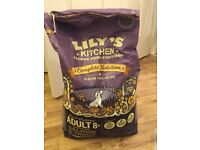 Lily's kitchen dry dog food complete 8+ senior dogs salmon and trout gluten free