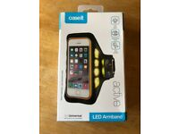 Brand new Caseit Universal Active Armband with Flashing LED Lights for Smartphones