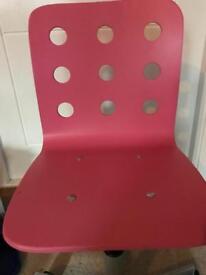 Ikea kids pink desk chair Jules VGC