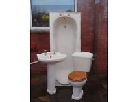 Bathroom suite, Victorian style, cream