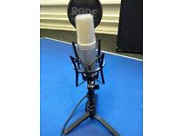 Rode NT2A microphone with pop shield and shock mount and XLR cable (collection from Ashford, Kent)