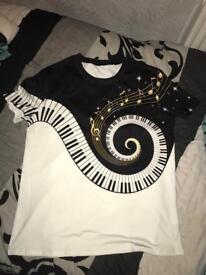 Men Piano Keys Tshirt