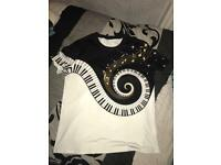 Men Piano Keys Tshirt