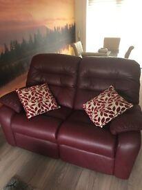 3 piece leather sofa. £400 ONO