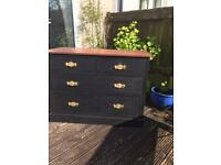 Refurbished Solid Mahogany Chest of Drawers (Can Deliver)