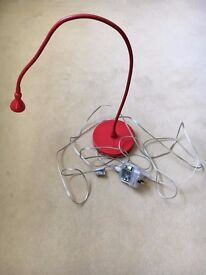 Ikea Jansjö worklamp work light RED
