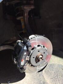 MTEC 2 pieces brake discs S5 B8 + DS2500 pads