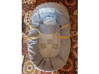 Blue (Boys) Moses Basket with free Changing bag (New)