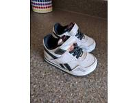 Baby size 4 1/2 Reebok Classic Trainers with led's