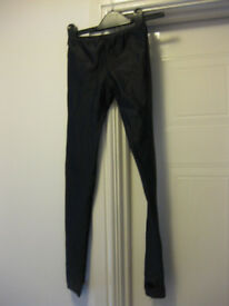BLACK DANCE LEGGINS (for jazz / tap / modern dance) Age 5-8 approx - ideal for beginner NOW REDUCED