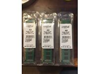 12 GB Crusial DRR3 RAM PC12800