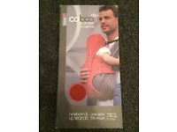 Baby carrier - caboo dx+, used once, perfect condition, front and back carrying positions
