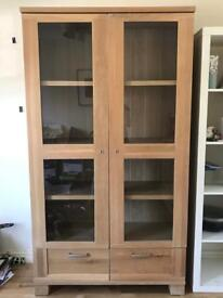 Glass cabinet and large sideboard