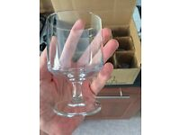 Wine glasses or goblets if yer being fancy