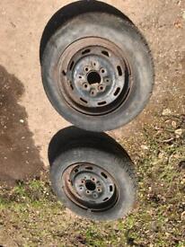 """Pair of 12"""" Mini Steel Wheels suit trailer"""