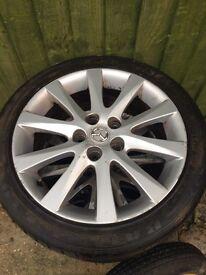 "17"" Genuine Mazda Alloy Wheels with spare"