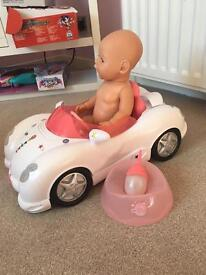 Baby born doll and car