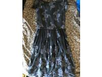 Oasis navy lace dress size extra small xs