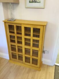 Wooden glass storage display cabinet perfect condition