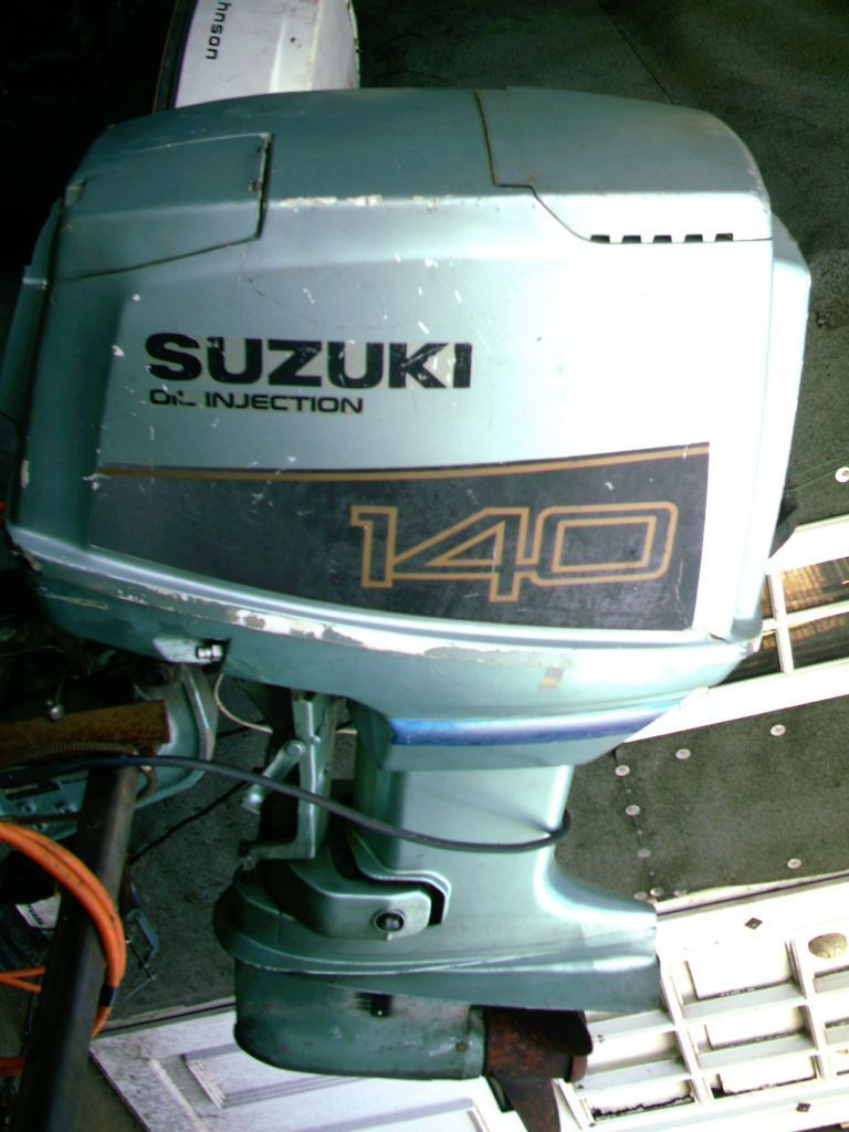 OUTBOARD BOAT ENGINE SUZUKI 140 HP OIL INJECTION P.T.T | in ...