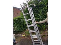 Self footing ladder