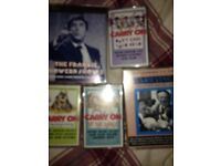 Carry on movies and music with frankie howerd cassettes
