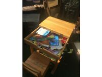 Old fashioned child's desk and chair