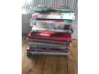 Pile of old cookery books