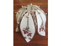 2 glass floral light shades