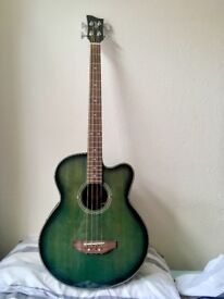 Ozark 3385 Electro Acoustic Bass Guitar with hard case