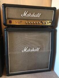 Marshall Lead 100 Mosfet amp plus Speaker Cab