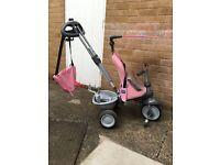 Girls pink 3 in 1 smart trike