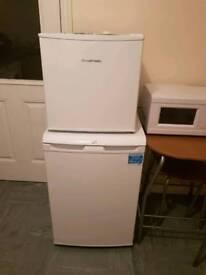 Fridge and. Small freezer