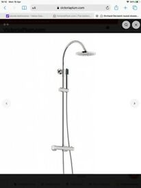 Brand new round shower riser