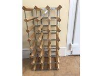 Wood/Metal assembled Wine Rack.