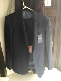 7e5ef2db49 Maxwell Textured Navy Slim Fit Italian Infinity Active Suit