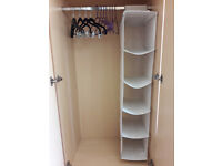 wardrobe organizer and clothes hangers
