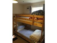 Wodden Bunk Bed with mattress