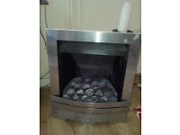 Brushed Stainless Steel inset Coal Effect Gas Fire