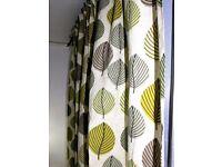 Dunelm Lined Pencil Pleat pair of curtains 100% COTTON face