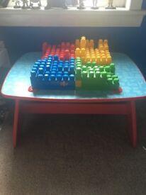 Mega Bloks table and bloks