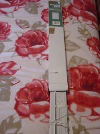 "BNIB White Plain PVC Venetian Blind 24"" W x 63"""