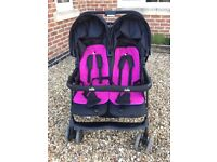Joie Aire Twin Blue/Pink Stroller
